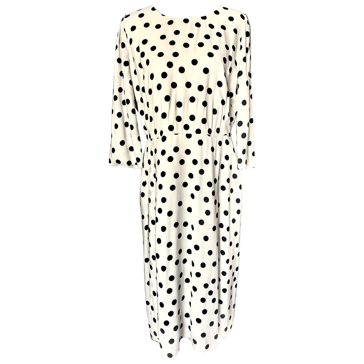 Dolce & Gabbana \N Kleid in  Weiss Viskose