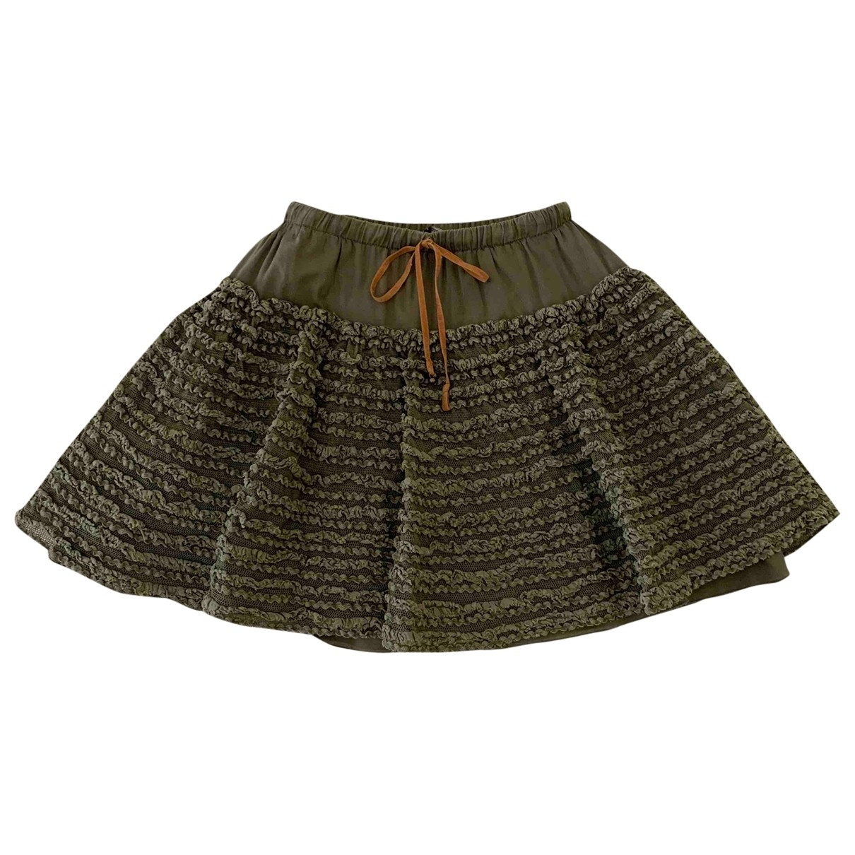 Ermanno Scervino \N Green Cotton skirt for Kids 8 years - up to 128cm FR