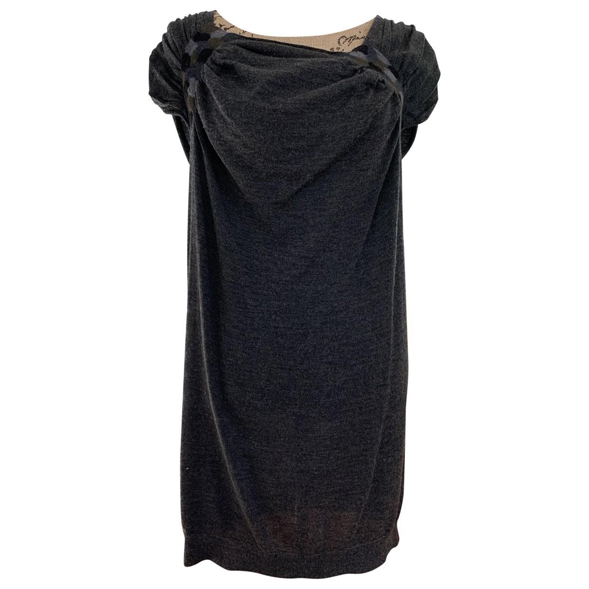 Prada - Robe   pour femme en laine - gris