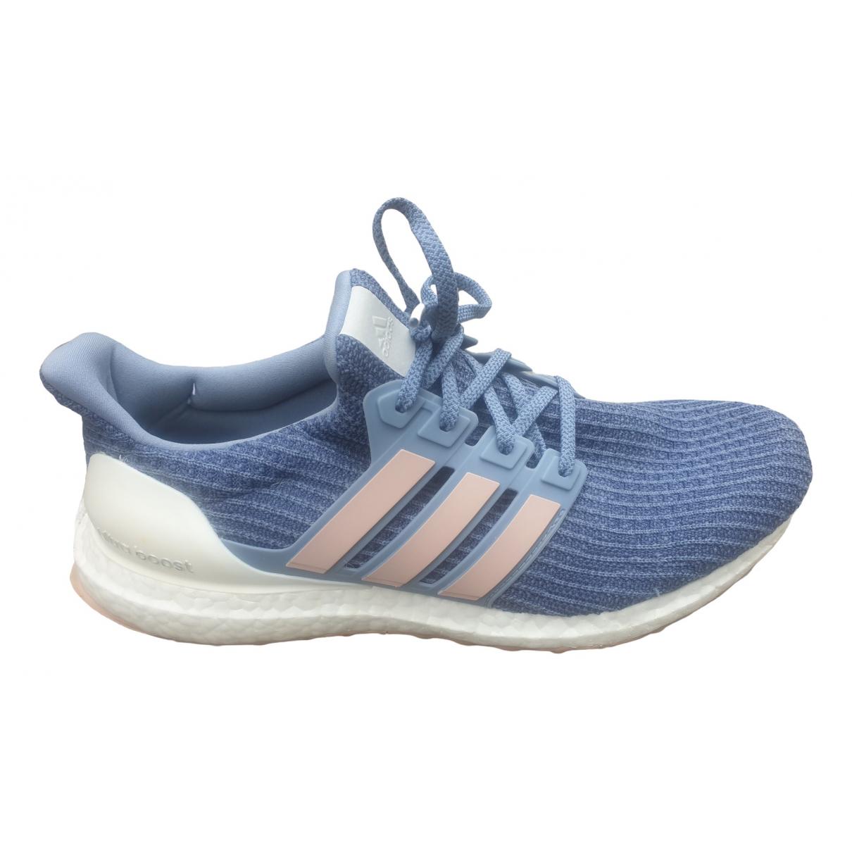 Adidas Ultraboost Sneakers in  Blau Leinen