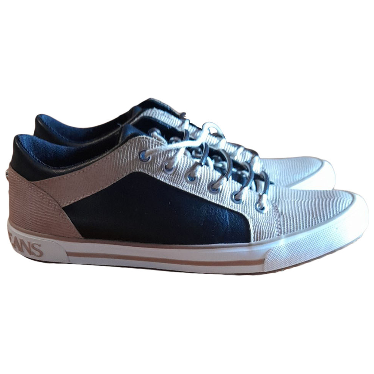 Armani Jeans N Gold Leather Trainers for Women 36 EU