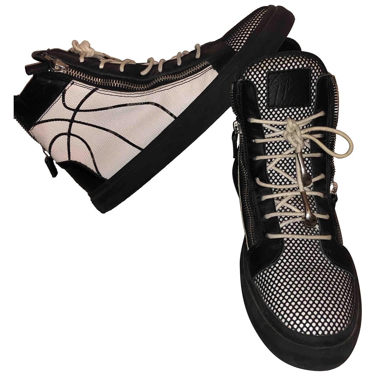 Giuseppe Zanotti - Baskets   pour homme en a paillettes - blanc