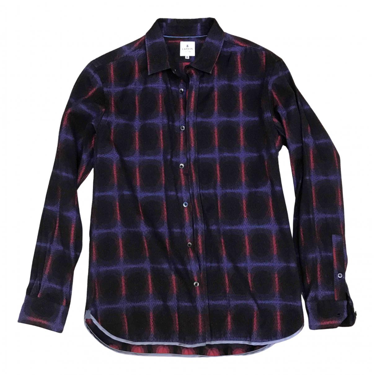 Lanvin - Chemises   pour homme en laine - multicolore