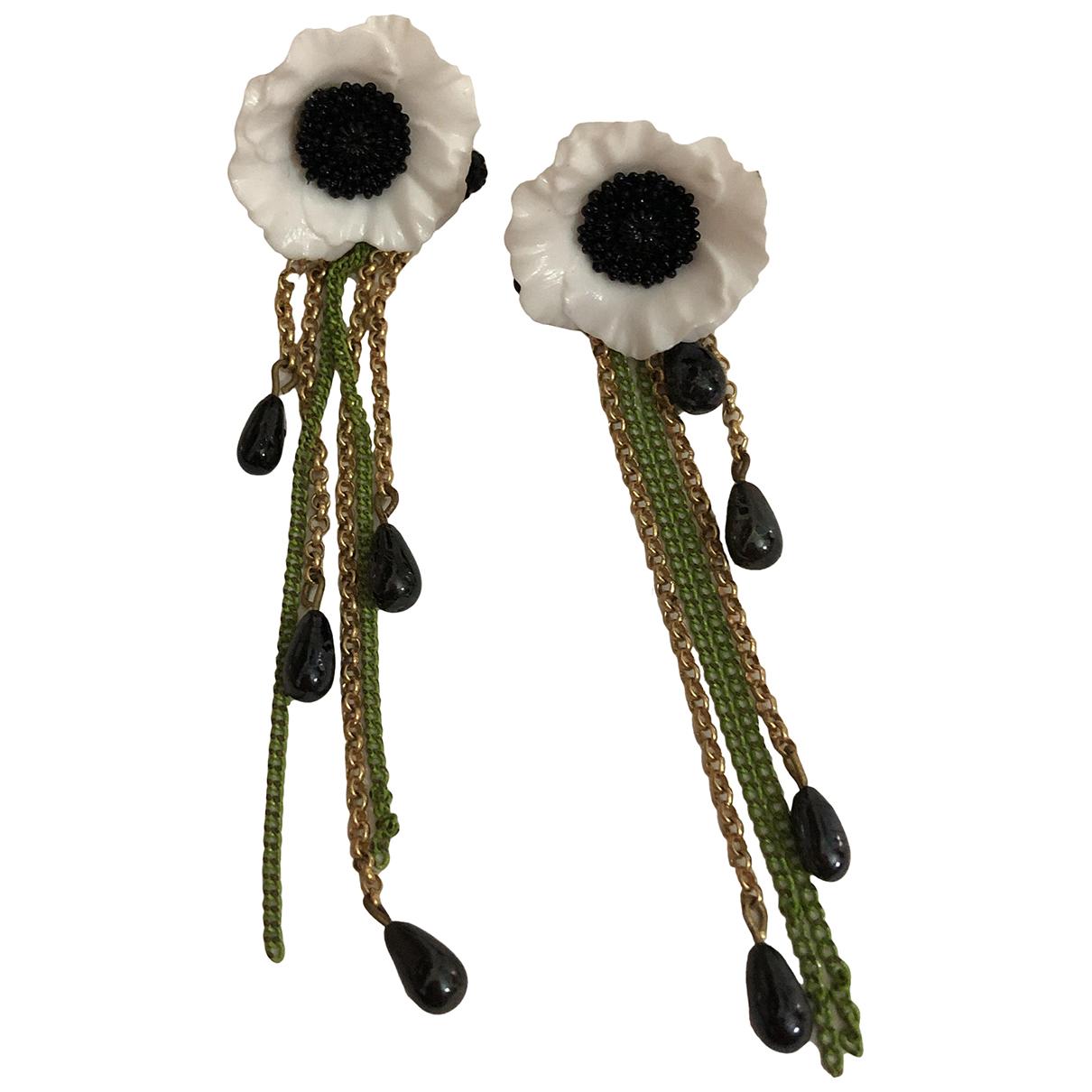 - Boucles doreilles Motifs Floraux pour femme en plaque or