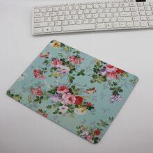 1pc Flower Print Mouse Pad