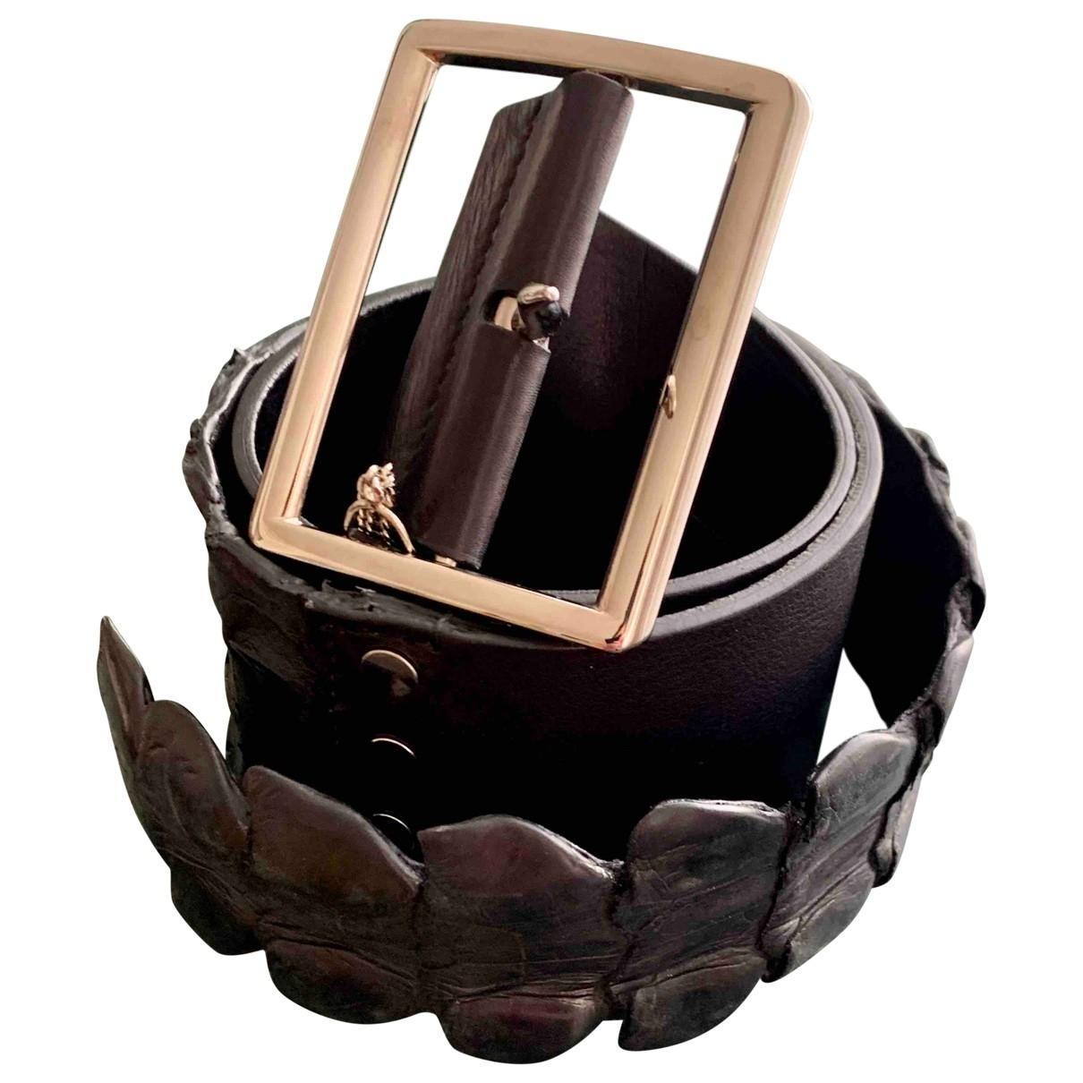 Ermanno Scervino \N Black Leather belt for Women S International