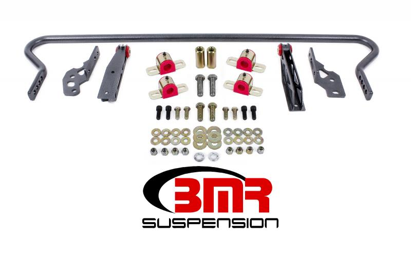 BMR Suspension SB042H Sway Bar Kit With Bushings Rear Adjustable Hollow 25mm Black Ford Mustang 05-14