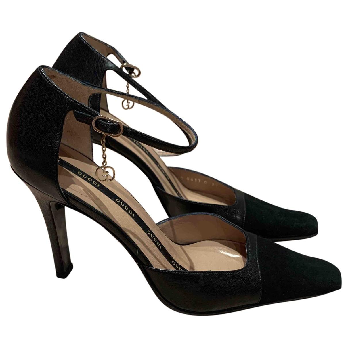 Gucci \N Black Leather Heels for Women 37 EU