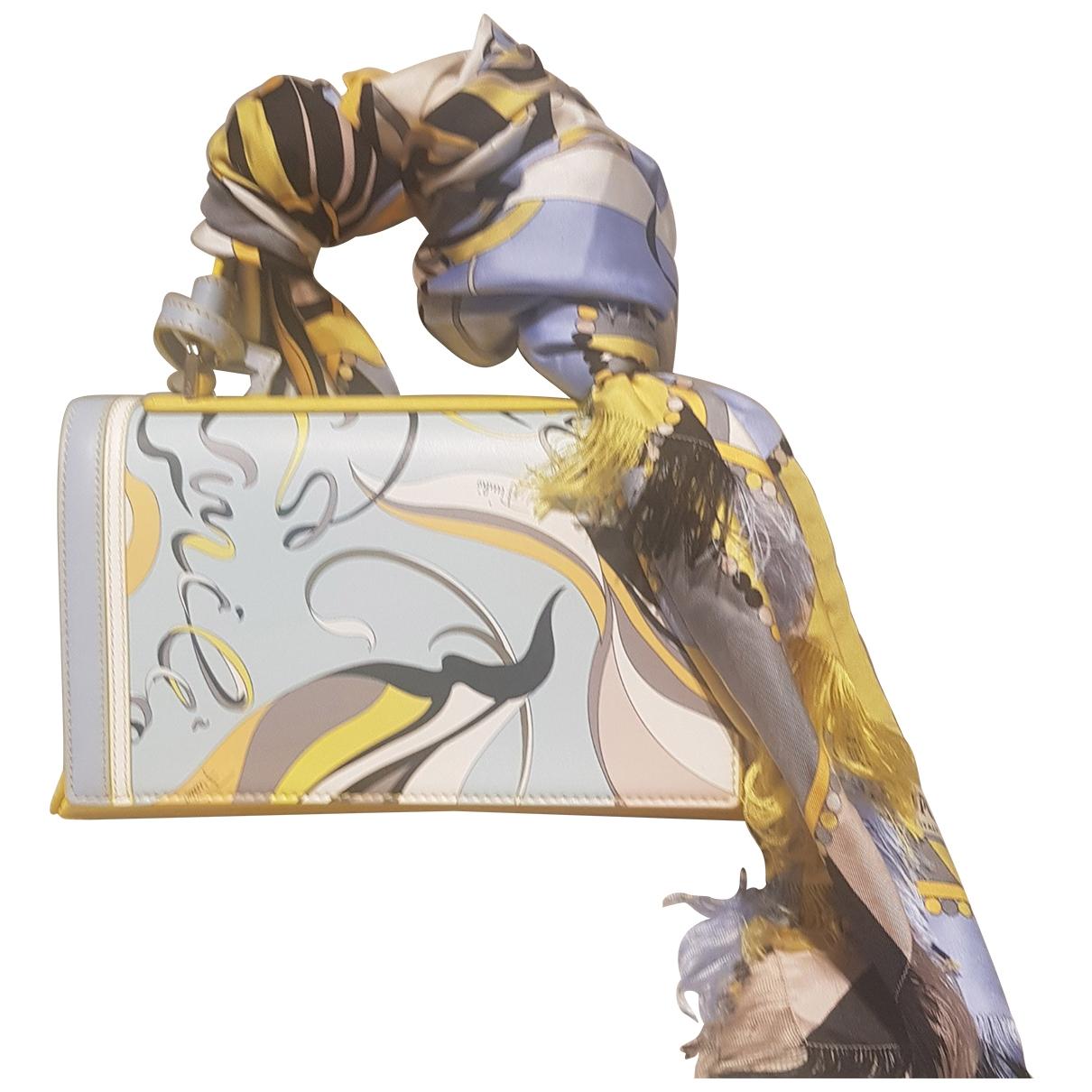 Emilio Pucci - Sac a main   pour femme en cuir - jaune