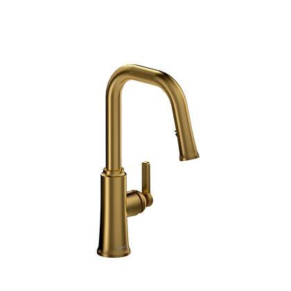 Kitchen TTSQ101BG Trattoria Kitchen Faucet with Spray 1.5 GPM  in Brushed