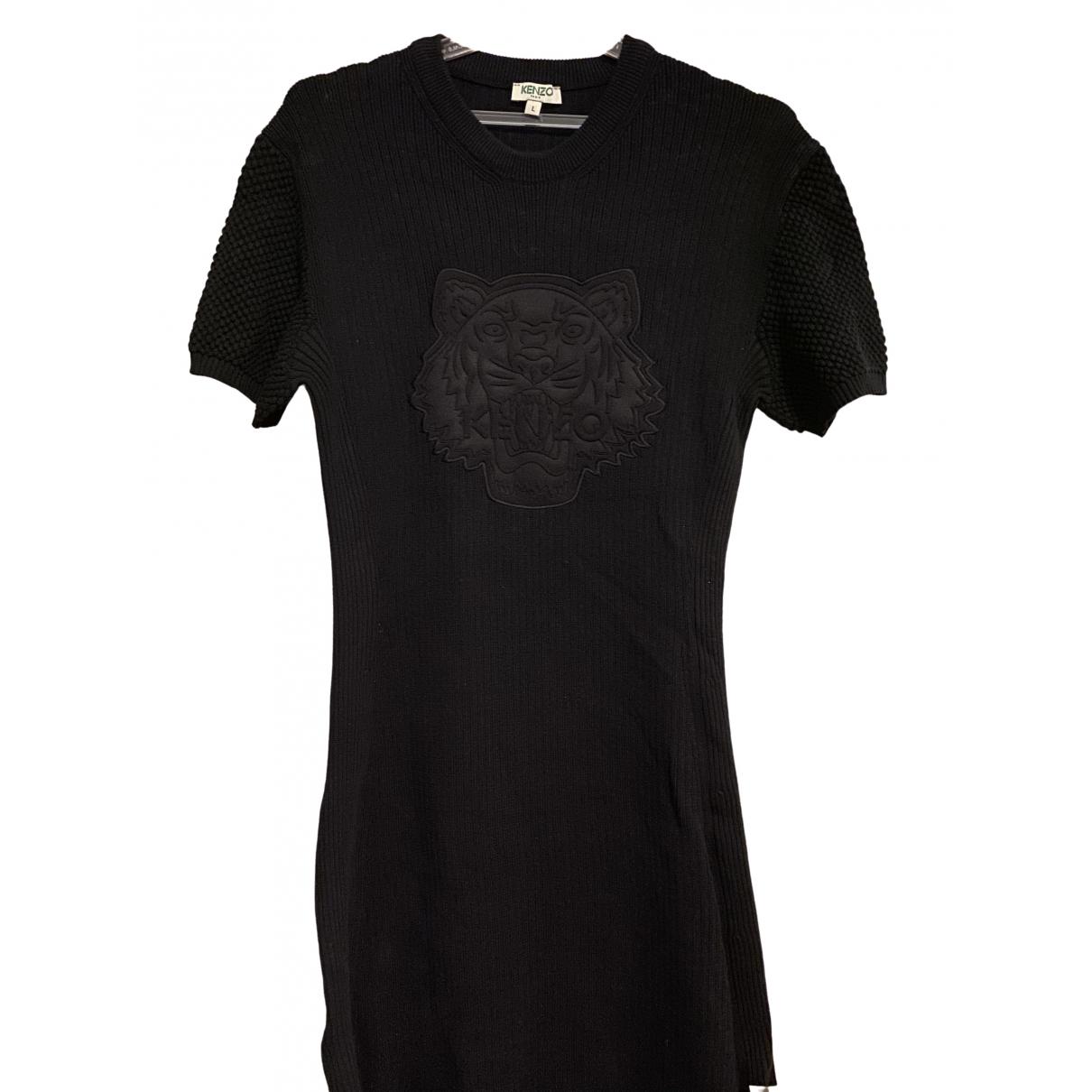 Kenzo \N Kleid in  Schwarz Baumwolle - Elasthan
