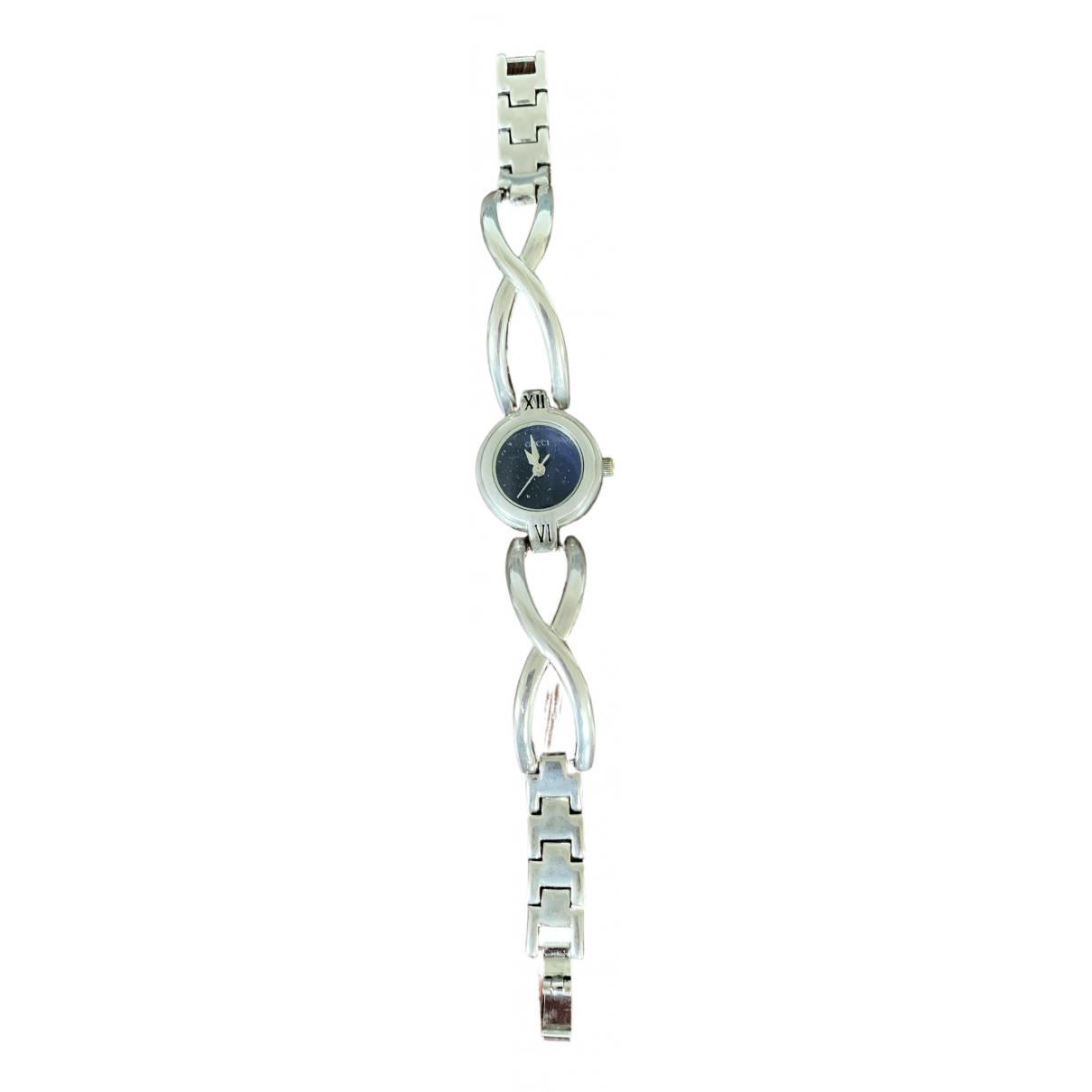 Gucci \N Uhr in  Silber Stahl