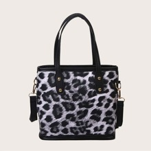 Bolso cubo de leopardo