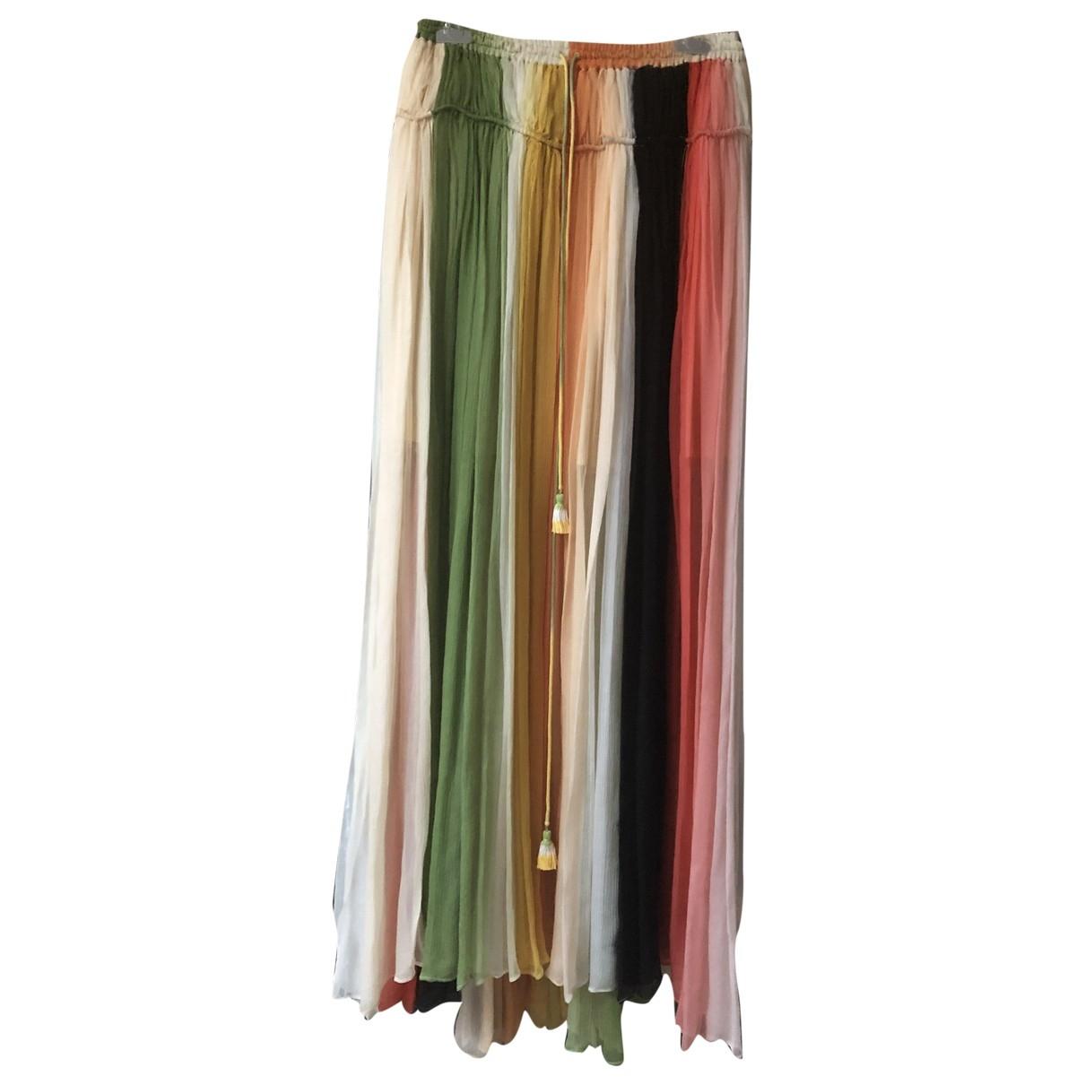 Chloe - Jupe   pour femme en soie - multicolore