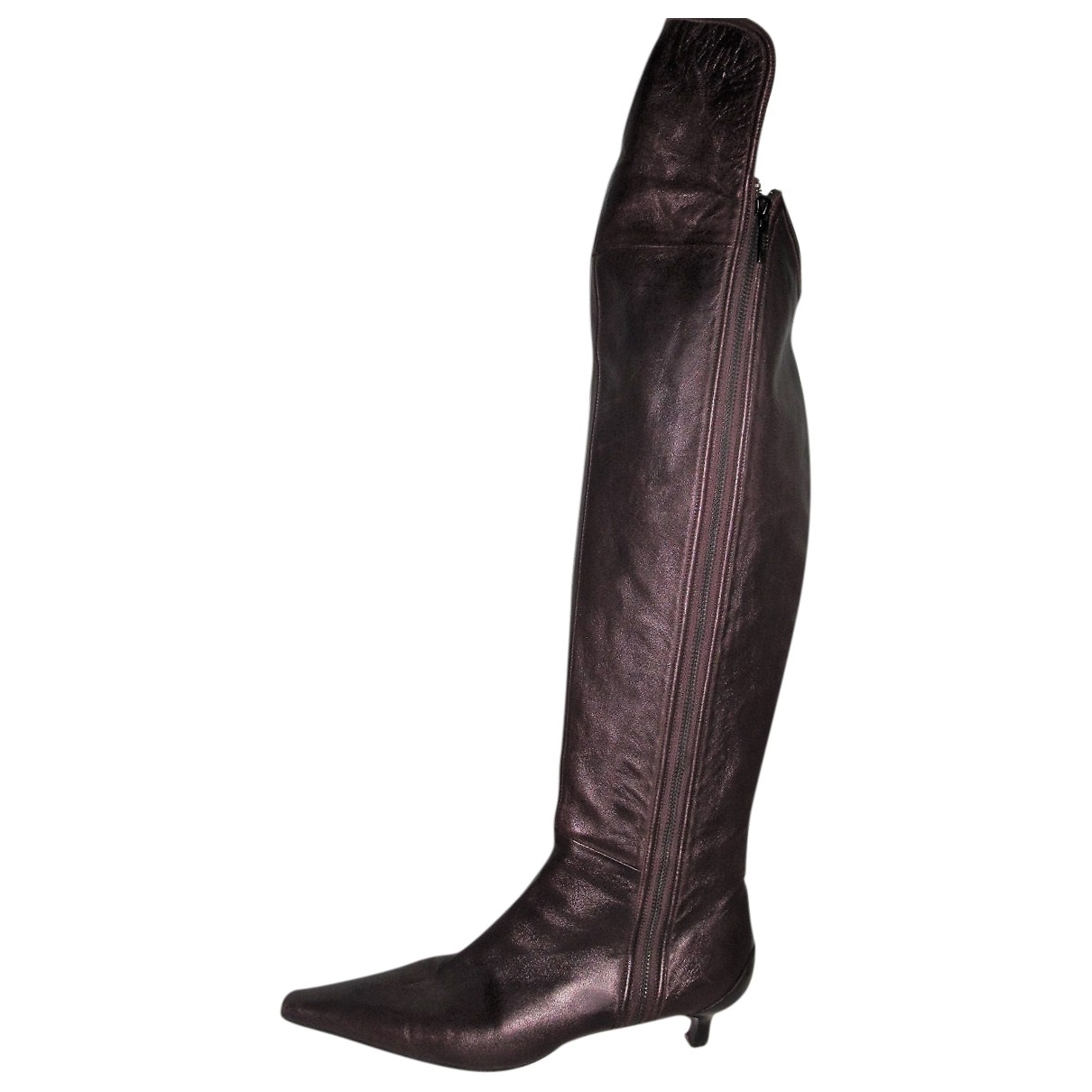 Boss \N Brown Leather Boots for Women 40 EU