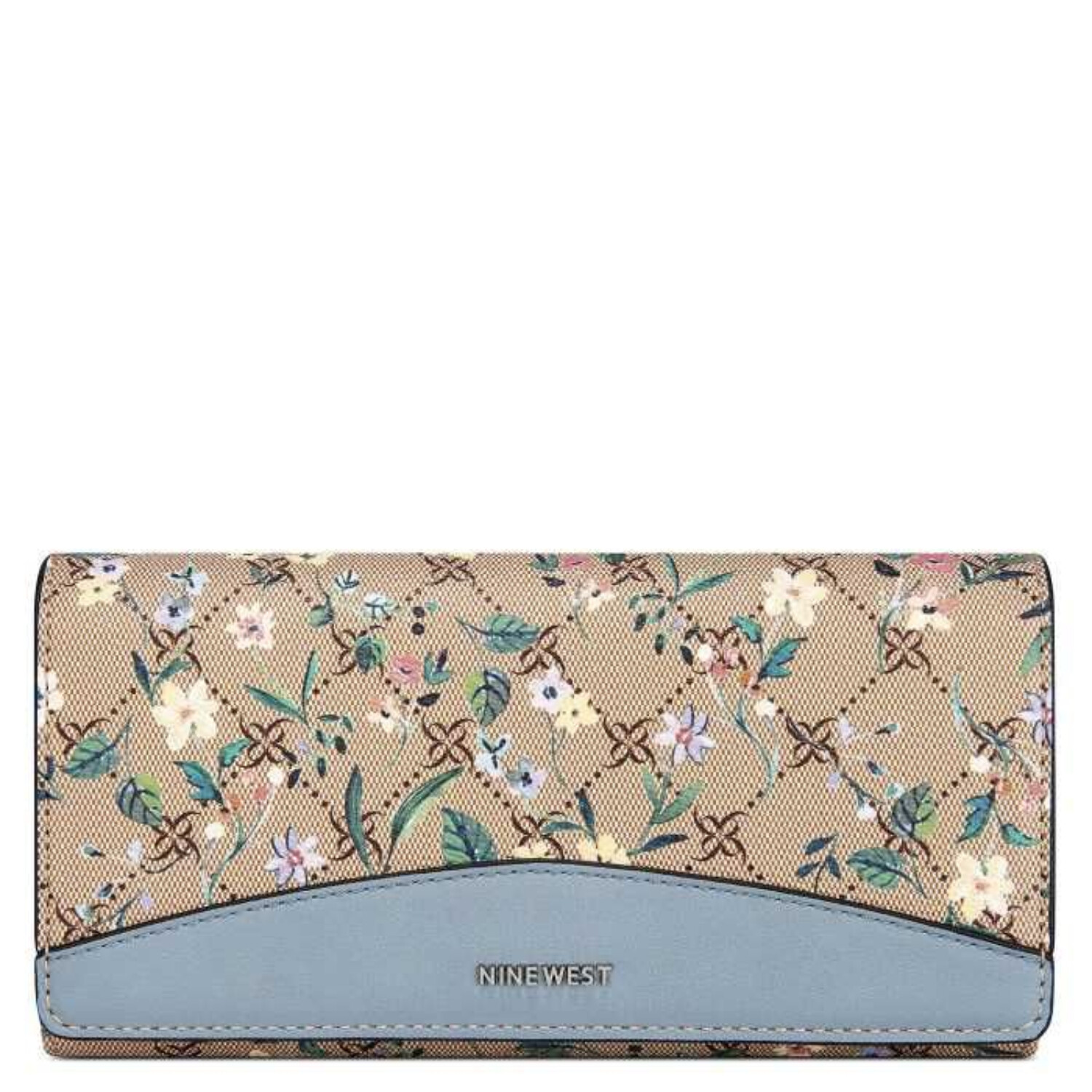 Nine West Women's Cara File Clutch - Logo Floral