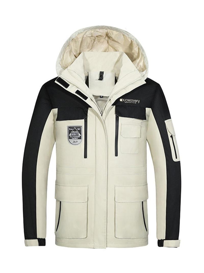 Ericdress Collar Color Block Standard Zipper Korean Men's Down Jacket