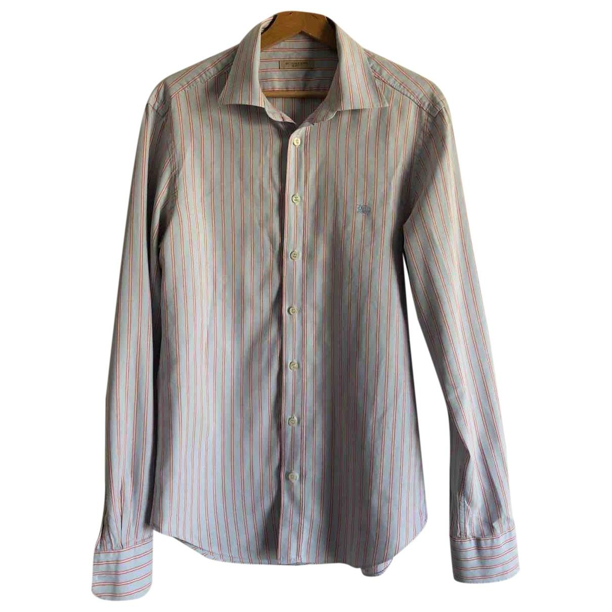Burberry \N Purple Cotton Shirts for Men M International