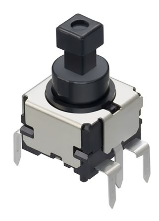 Alps Alpine Single Pole Double Throw (SPDT) Latching Push Button Switch, PCB, 14.5V dc (5)
