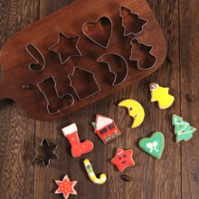 10 Stuecke Keksform mit Weihnachten Design