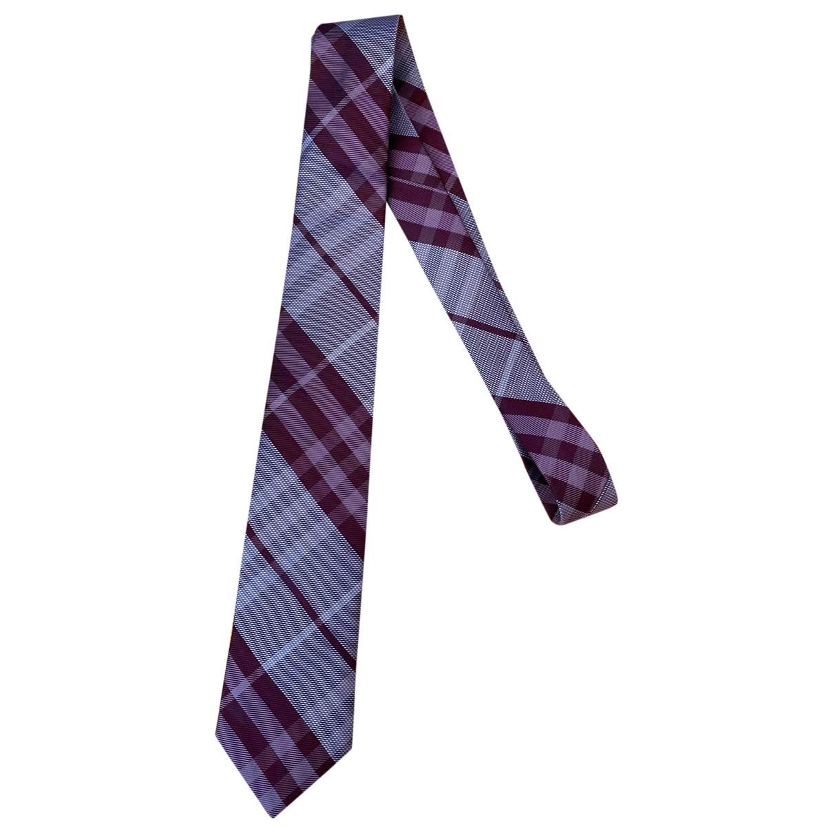 Burberry \N Purple Silk Ties for Men \N