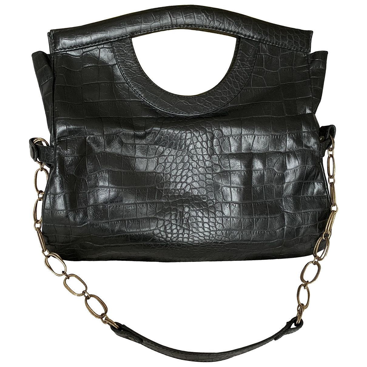 Aridza Bross \N Handtasche in  Schwarz Leder