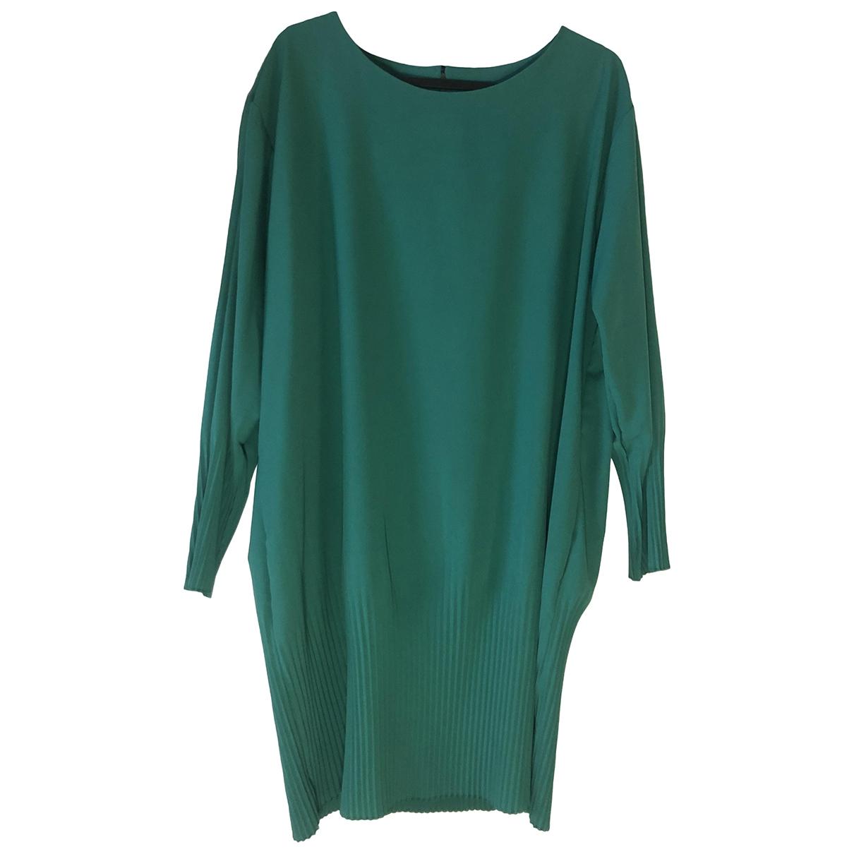 Non Signe / Unsigned Oversize Kleid in  Gruen Polyester
