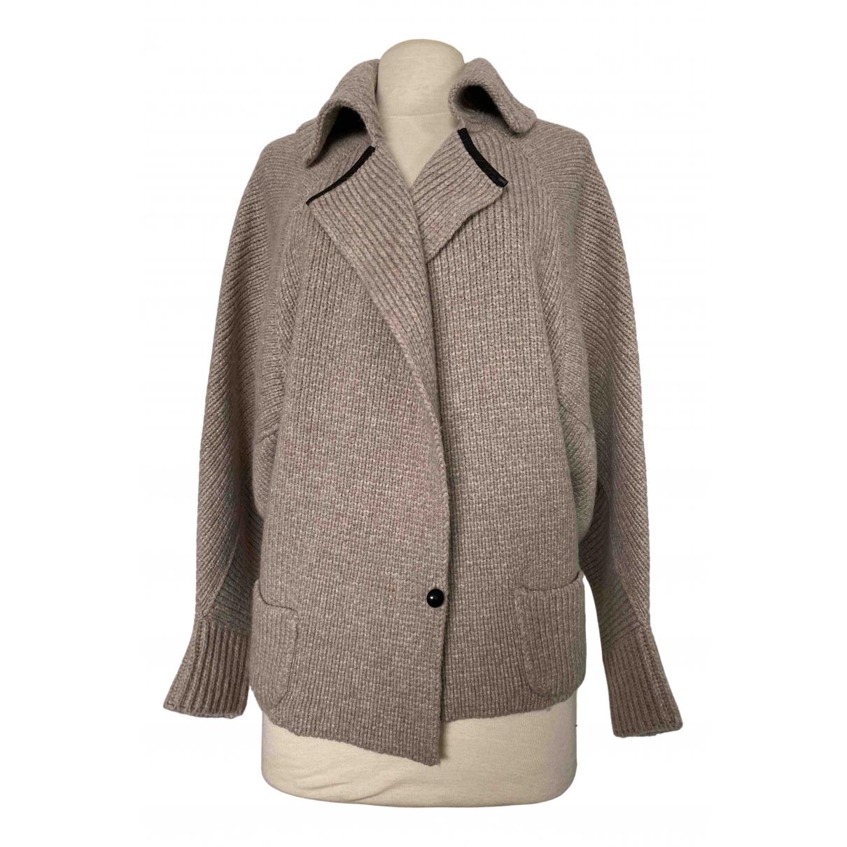 Non Signé / Unsigned Manche ballon Beige Wool Knitwear for Women 46 IT