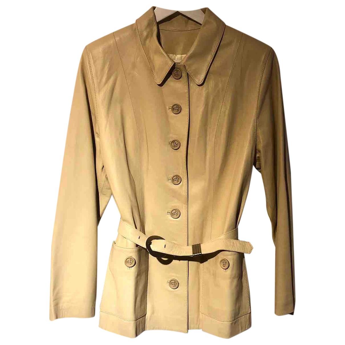 - Veste   pour femme en cuir - beige