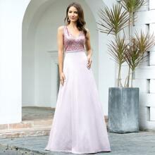 Kleid mit Pailletten und Glitzer