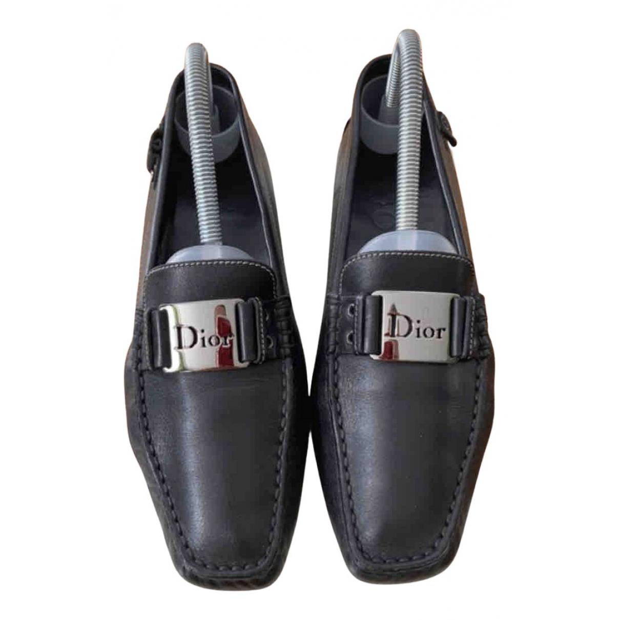 Dior \N Mokassins in  Schwarz Leder