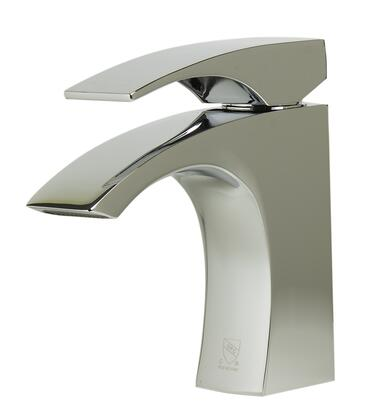 AB1586-PC Bathroom Faucet with Brass  UPC Logo of Authenticity  Single Lever Control  Fixed Spout  Single Hole Mount and H & C Letters Etched on