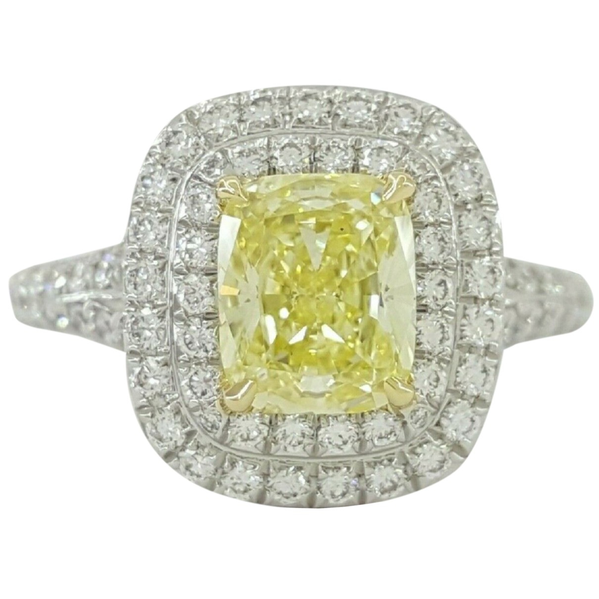 Tiffany & Co - Bague Tiffany Soleste pour femme en platine - jaune