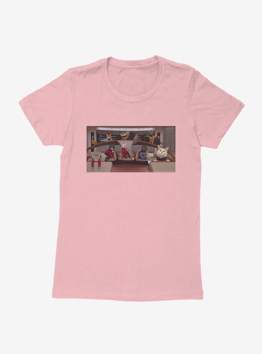 Star Trek The Next Generation Cats Cast Womens T-Shirt