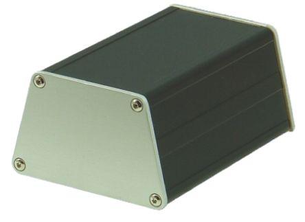 Schroff minipac, Black Aluminium Enclosure, IP40, 100 x 47.5 x 75.6mm