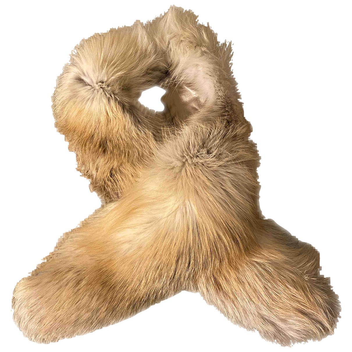- Foulard   pour femme en renard - beige
