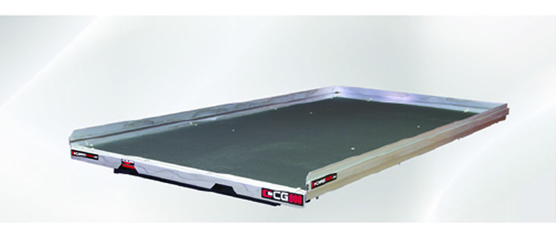 Slide Out Truck Bed Tray 1000 lb Capacity 75 Percent Extension 6 Bearings Alum Tie-Down Rails Plywood Deck Fits Tahoe