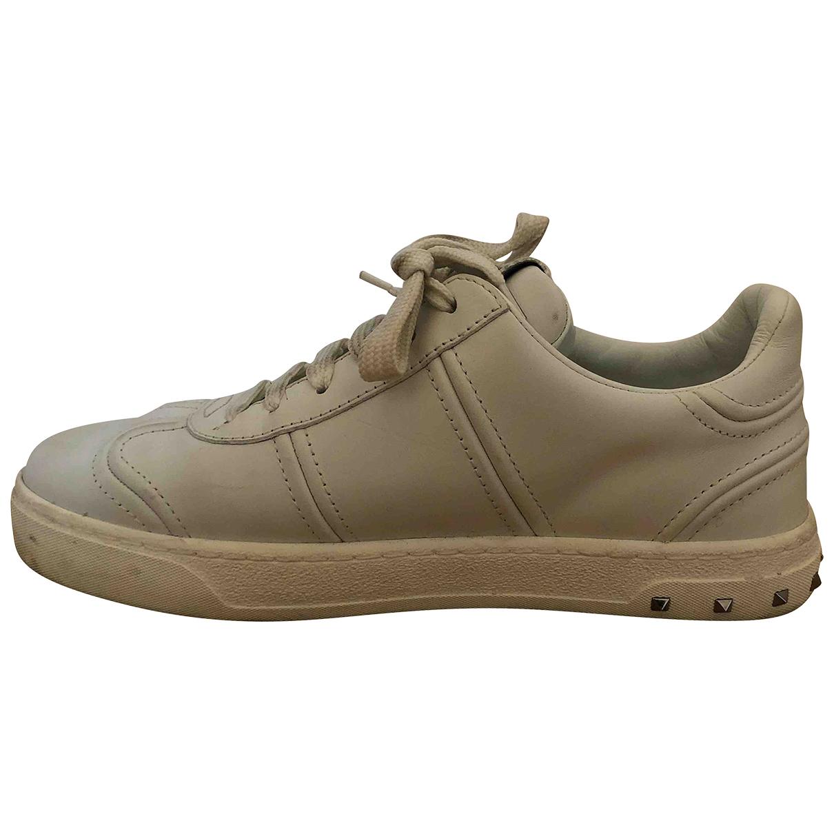 Valentino Garavani \N Sneakers in  Weiss Leder