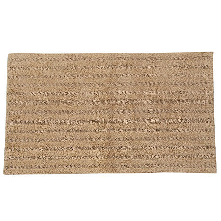 Castle Hill London Linear Reversible Bath Rug Collection, One Size , White