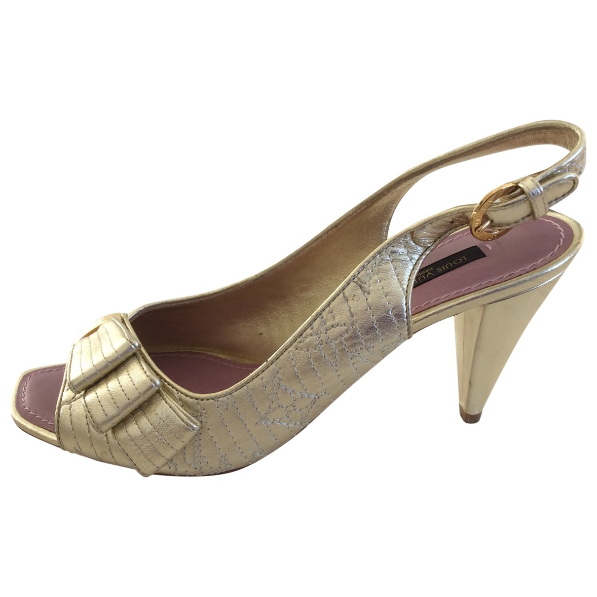 Louis Vuitton - Escarpins   pour femme en cuir - dore