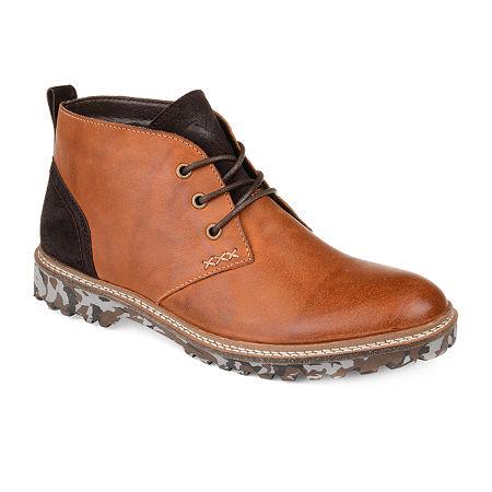Vance Co Mens Ranger Chukka Boots Block Heel, 12 Medium, Brown
