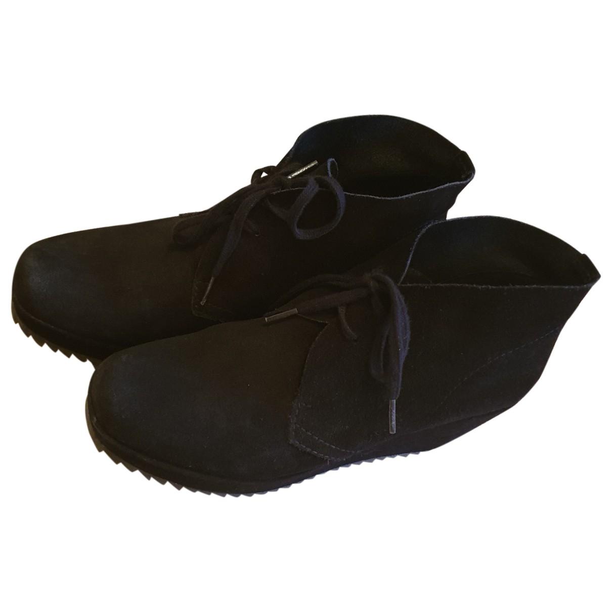 Pedro Garcia - Boots   pour femme en suede - noir