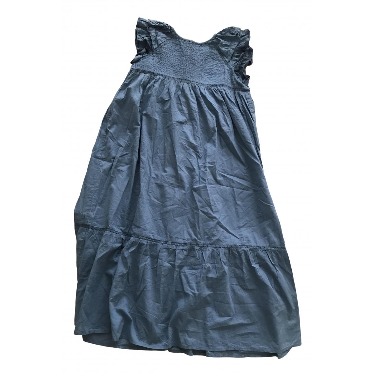 Bonton \N Kleid in  Blau Baumwolle