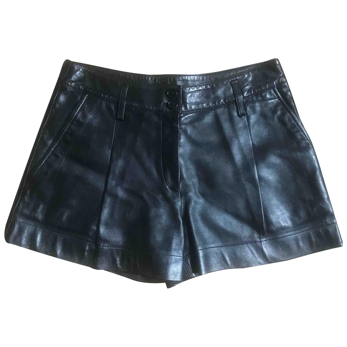Barbara Bui \N Shorts in  Schwarz Leder