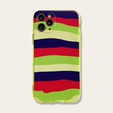 1pc Colorblock Striped iPhone Case