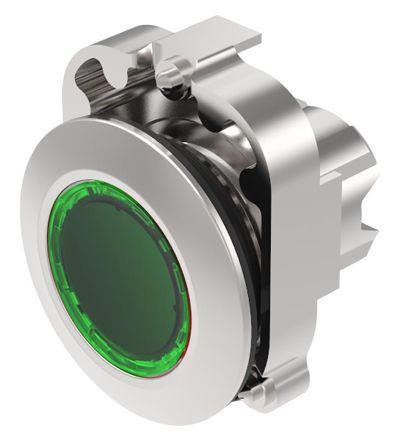 EAO Series 45 Latching Green LED Actuator, IP20, IP40, IP66, IP67, IP69K, 30.5 (Dia.)mm, Panel Mount, 500V ac/dc