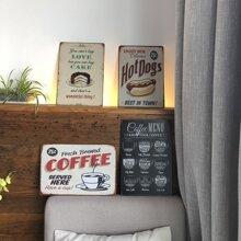 Vintage Cafe Menu Wall Art Poster Sheet 1pc
