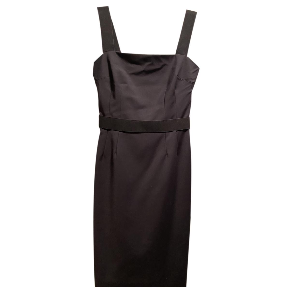 Dolce & Gabbana \N Kleid in  Schwarz Baumwolle - Elasthan