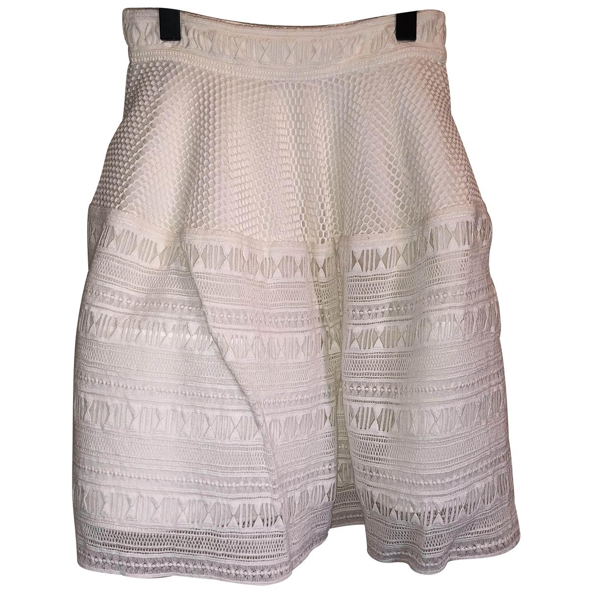 Pinko - Jupe   pour femme en coton - blanc