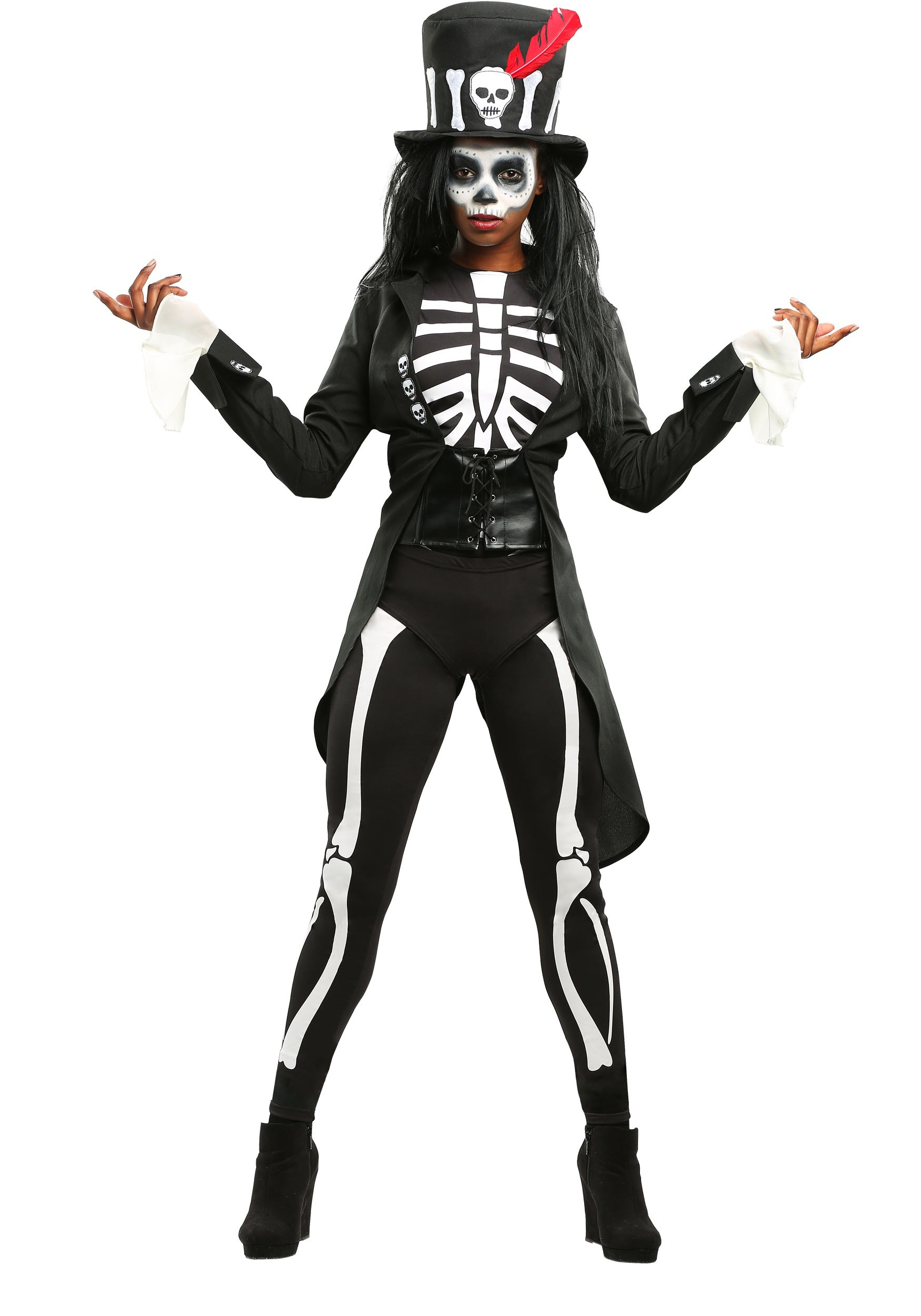 Womens Plus Size Voodoo Skeleton Costume | Exclusive